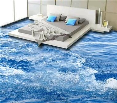 سرامیک سه بعدی طرح اقیانوس برای اتاق خواب