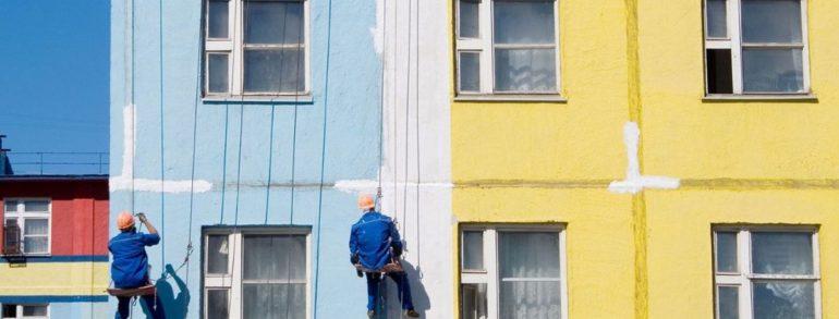 تجدید رنگ نمای ساختمان