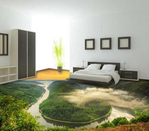 سرامیک سه بعدی طرح جنگل امازون برای اتاق خواب