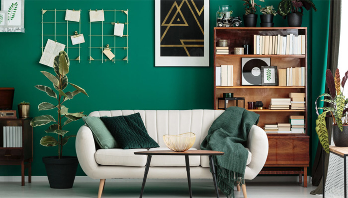 رنگ سبز در طراحی داخلی
